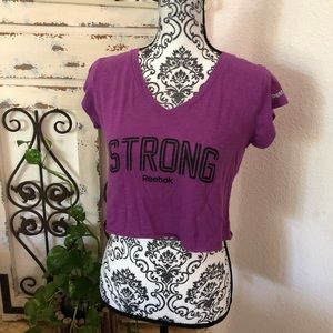 """Reebok """"strong"""" cropped tee"""